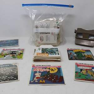 Lot #199 - Vintage Viewmaster and Reels: Charlie Brown, Mr. Magoo, Godzilla, Archie & More, Plus Booklets
