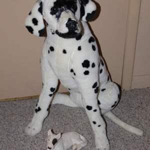 "Lot #203 - Melissa & Doug Lifesize DALMATION 33"" Plush Stuffed and Plaster Resting Dog"