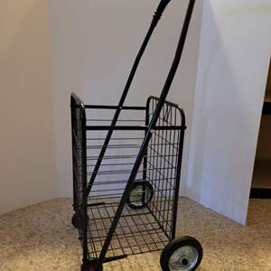 Lot #204 - Folding Rolling Shopping Cart, Looks to be New