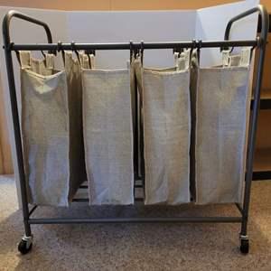 Lot #205 - Better Homes & Gardens Removable Bag Laundry Sorter on Wheels, Looks New