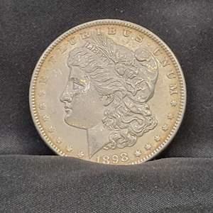 Lot 3 - 1898 AU Morgan Silver Dollar
