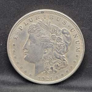 Lot 4 - 1921 AU Morgan Silver Dollar