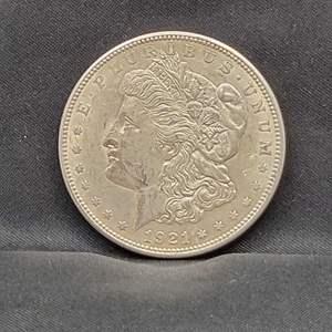 Lot 5 - 1921-S AU Morgan Silver Dollar