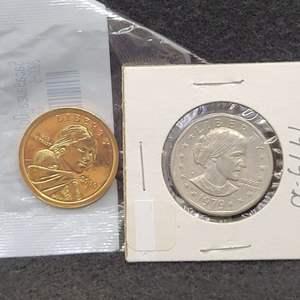 Lot 11 - Two Dollars: 1979-D Susan B Anthony, 2000-S ChProof-63 Sacagawea
