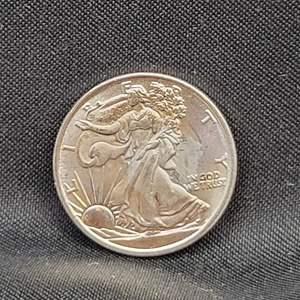 Lot 13 - 1/10 Troy Oz .999 Fine Silver Walking Liberty Eagle
