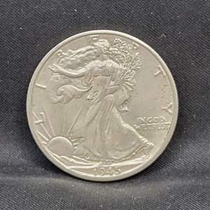 Lot 17 - 1945-D SILVER Walking Liberty Half-Dollar