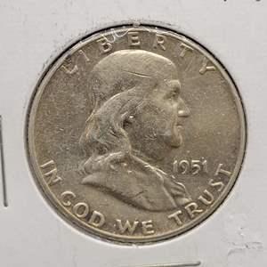 Lot 18 - 1951 UNC SILVER Franklin Half-Dollar