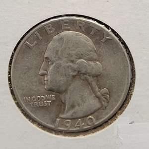 Lot 27 - 1940 SILVER Washington Quarter Dollar