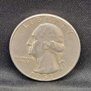 Lot 28 - 1951-S SILVER Washington Quarter Dollar
