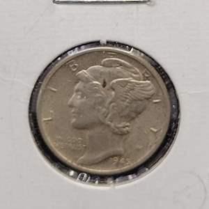 "Lot 35 - 1945-D  Mercury Dime ""Winged Liberty Head"""