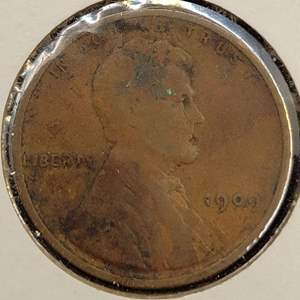 Lot 51 - 1909 FIRST YEAR OF ISSUE Lincoln Wheat Cent