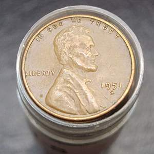 Lot 61 - 1951-S Lincoln Wheat Cents Roll