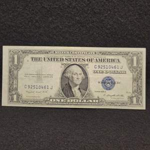 Lot 62 - 1935-G One Dollar Silver Certificate United States Currency Note, Blue Seal