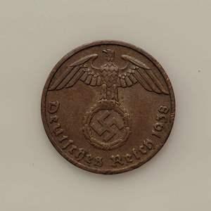 Lot 72 - 1938 German 1 Pfennig with Swastika