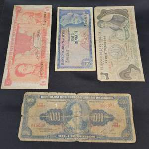 Lot 74 - Four VINTAGE World Currency