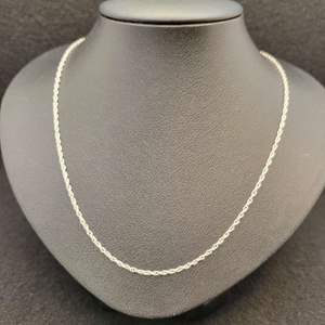 """Lot 83 - Vintage Sterling Silver 18"""" Chain, 925"""