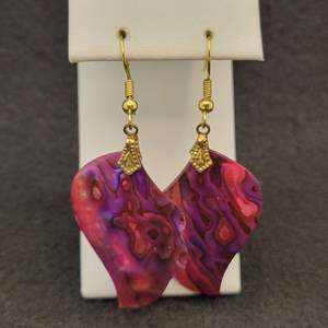 Lot 94 - Vintage Carved Shell Earrings