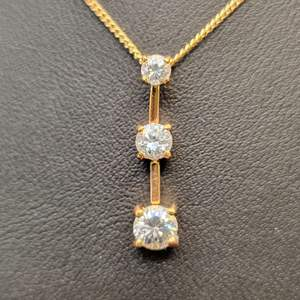 """Lot 95 - Vintage PAST PRESENT FUTURE Necklace and 16"""" Chain"""