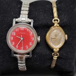 Lot 96 - HELBROS Mechanical Vintage Ladies Watch and TIMEX Mechanical Vintage Ladies Watch