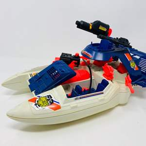 Lot #5 - G.I. Joe Vintage 1992 Cobra Shark  Patrol Battle Corps Boat