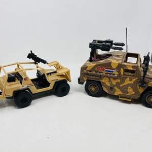 Lot #9 -  G.I. Joe VS. Cobra Smoke Screen Transport and 2003 Hasbro G.I. Joe Explosives Vehicle