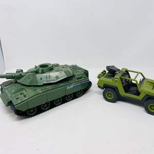 Lot #14 -  Hasbro Vintage G.I. Joe 1982 Tanker and 1982 G.I. Joe Multi Purpose Attack Vehicle (Vamp)