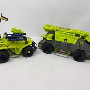 Lot #17 - 1992 G.I. Joe Monster Blaster A.P.C. and 1990 Badger 220 Truck