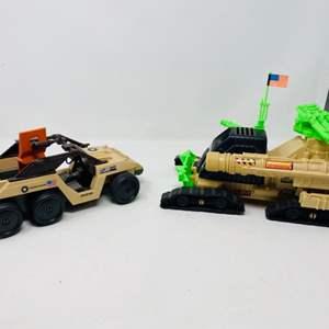 Lot #19 - Vintage Hasbro 1988 G.I. Joe Patriot Vehicle and 1988 Action Force Desert Fox