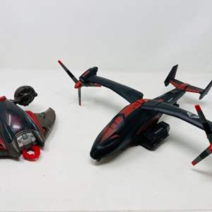Lot #20 - Hasbro G.I. Joe 2011 Black Dragon and 2004 Cobra Mantis Attack Craft
