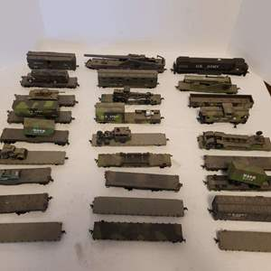 Lot #24 - Vintage Made in Yugoslavia U.S. Army HO Scale Flatbed RR Cars