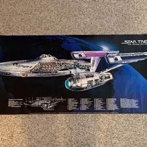 Lot #47 -  Vintage 1979 Star Trek The Motion Picture Wall Poster - USS Enterprise - Illustration by David Kimble