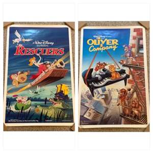 Lot #52 -  Walt Disney Classic Rescuers Movie Poster 1977 and Walt Disney Pictures Oliver & Company Poster 1988