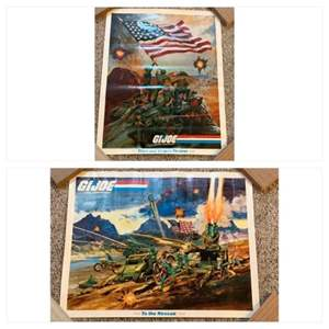 Lot #59 -  G.I. Joe A Real American Hero To the Rescue Poster and Stars and Stripes Forever Poster