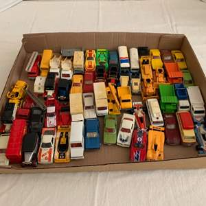Lot #68 - Die Cast Vehicles Including 1975 Nissan Caball, 1979 Tomica Pontiac Firebird, Tomica Lotus Elite, London Bus and More