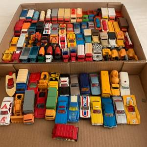 Lot #72 - Group of Die Cast Vehicles Including 1977 Tomica Lamborghini, 1977 Tomica Tomy Chevy Van, 1976 American Truck and More