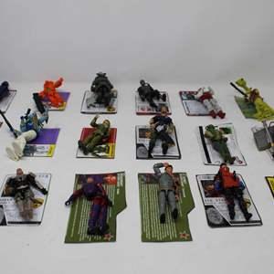 Lot #79 -  18 Vintage Hasbro G.I. Joe Figures, Carcass, SkyDive, Snow Serpent Officer, Lobotomaxx, Predacon
