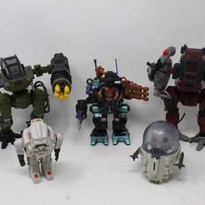 Lot #84 - Vintage Hasbro G.I. Joe Steel Maurader, 2010 Deviant, '85 Cobra Flight Pod, '83 Battle S.N.A.K.E.