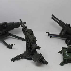 Lot #86 - Vintage Hasbro G.I. Joe '82 Heavy Artillery Laser, '83 ARAH Vehicle and '82 ARAH Flak Cannon