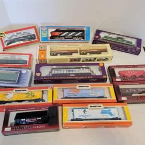 Lot #97 -  13 Model Railroad Pieces, International Hobby Corp, Mantua HO Scale Reproductions, Life-Like Trains, Con-Cor Tanker