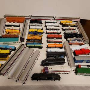 Lot #114 -  HO Scale Model Power, Walthers and More, Locomotives, Box Cars, Railroad Tanks, Engines, and Passenger Cars
