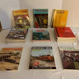 Lot #116 -  Model Railroad Handbooks, Milwaukee Road West, Model Railroader, Scenery Ideas, Scenery for Railroads