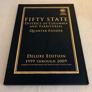 Lot #122 -  Fifty State Quarter Folder Complete Collection from 1999 to 2009