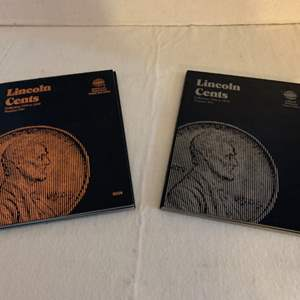 Lot #124 -  Lincoln Cents Penny Collection Books Collection One from 1909 to 1940 & Collection Two from 1940 to 1974