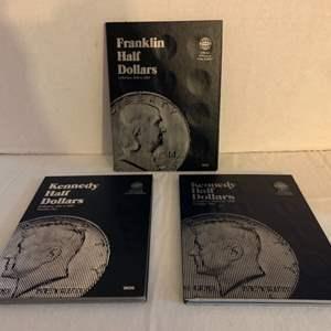 Lot #128 - Official Whitman Coin Folder Franklin Half Dollars 1948-1963 & Kennedy Half Dollars 1964 - 1985 & 1985 & On