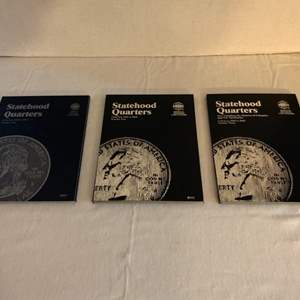 Lot #130 -  Statehood Quarters Collection Whitman Coin Folders Numbers One, Two & Three Starting in 1999