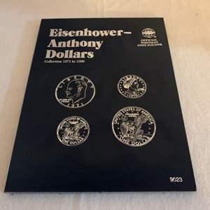 Lot #131 -  Eisenhower - Anthony Dollars Official Whitman Coin Folder 1971 to 1999