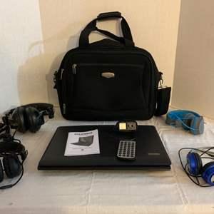 Lot #134 -  Jlab Blue JBuddies Headphones for Kids, Jlab Black Headphones, Sony Headphones, & Sylvania Portable CD Player
