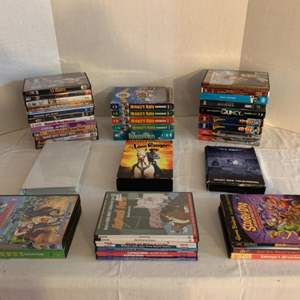 Lot #139 -  DVD's and VHS Tapes Including Spider-Man, Dennis the Menace, Captain Nemo, The Hardy Boys & Robin Hood