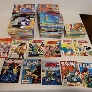 Lot #145 -  Group of 1980's Marvel Comics Presents G.I. Joe Plus Disney Adventure's Magazines & Walt Disney's Comic Books