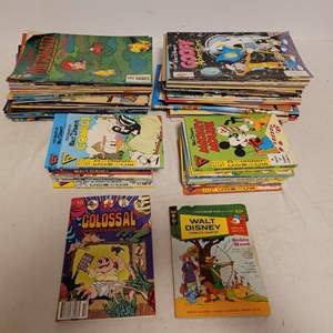 Lot #148 -   Vintage Walt Disney Comic Books Plus Denice the Menace, Casper & #33 Bedknobs & Broomsticks 50 Cents